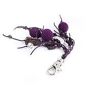 Аксессуары ручной работы. Ярмарка Мастеров - ручная работа Брелок для сумки ключей Калейдоскоп фиолетовый. Handmade.