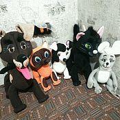 "Куклы и игрушки handmade. Livemaster - original item Куклы планшетные для спектакля ""Кто сказал мяу?"". Handmade."