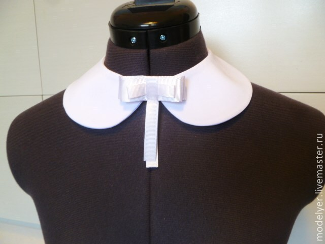 The collar is detachable white crepe, Collars, Moscow,  Фото №1