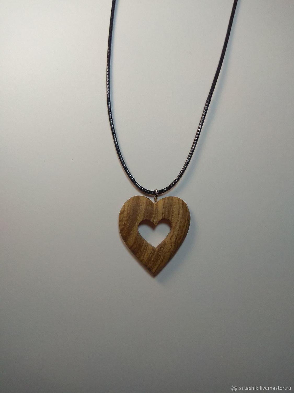 Heart pendant made of wood, Pendant, Taganrog,  Фото №1