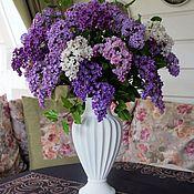 Цветы и флористика ручной работы. Ярмарка Мастеров - ручная работа Сирень в белой вазе. Handmade.