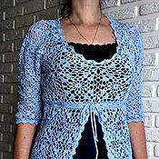 Одежда handmade. Livemaster - original item Blue jacket cotton. Handmade.