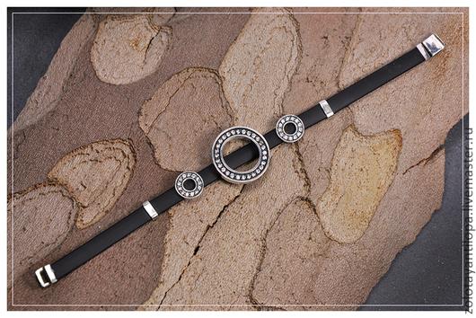 """Браслеты ручной работы. Ярмарка Мастеров - ручная работа. Купить Браслет """"Кольца Сатурна""""из серебра 925 пробы. Handmade."""