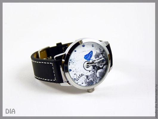 Оригинальные Дизайнерские Часы Бабочка и Абстракция. Студия Дизайнерских Часов DIA.