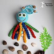 Куклы и игрушки ручной работы. Ярмарка Мастеров - ручная работа Осьминожка-погремушка.. Handmade.
