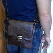 Сумки и аксессуары handmade. Livemaster - original item Bag leather mens 108. Handmade.