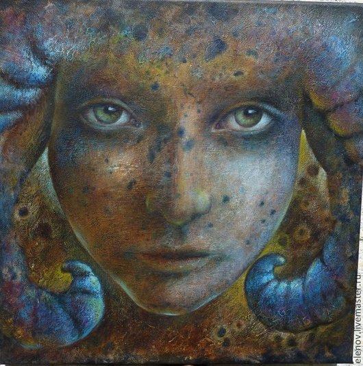 `Овен` картина на холсте в авторской технике