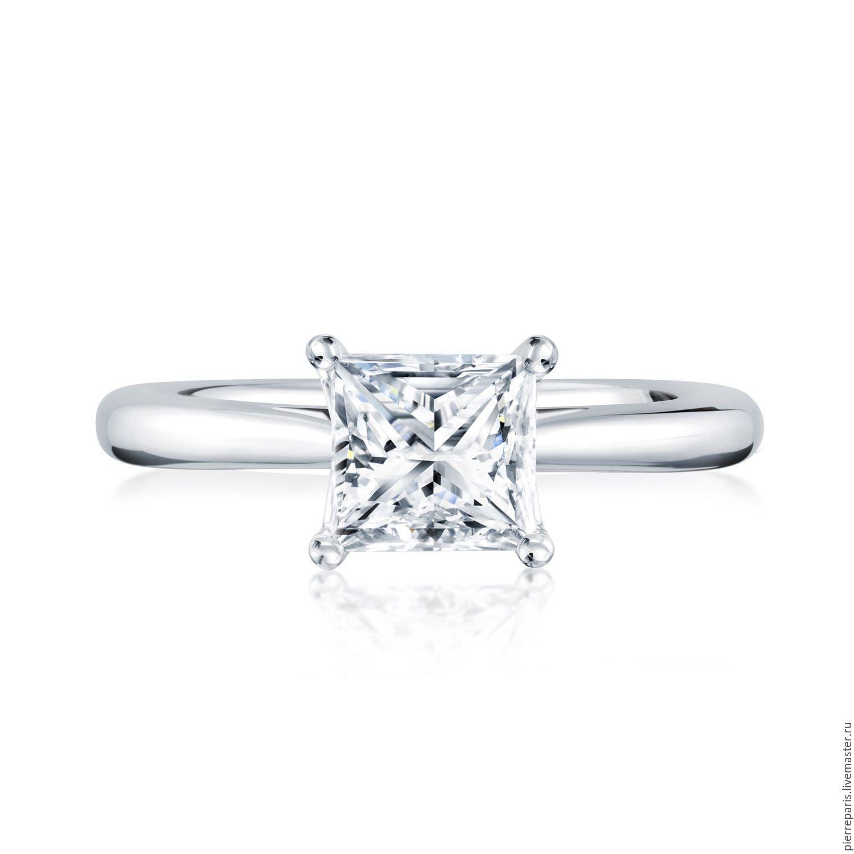 Обручальное кольцо, помолвочное кольцо Кольцо PIERRE Classique c квадратным  бриллиантом 0.50 карат. Обручальное кольцо, помолвочное кольцо ... bb809db9e83