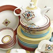 Посуда handmade. Livemaster - original item The painted porcelain Set Talavera. Handmade.