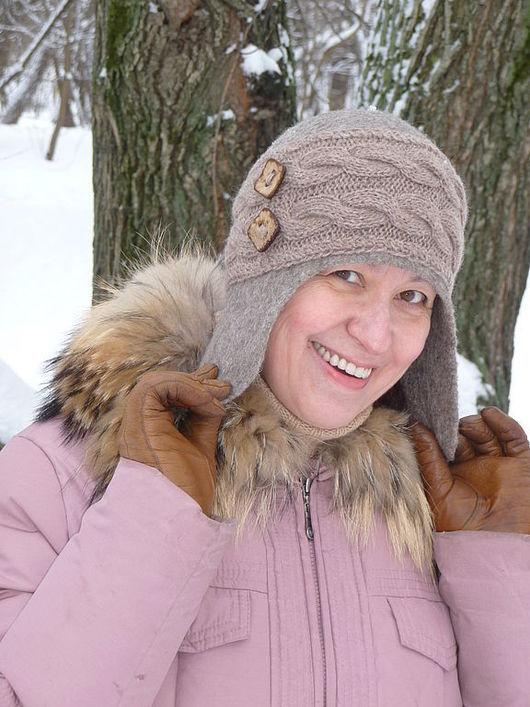 Шапки ручной работы. Ярмарка Мастеров - ручная работа. Купить Шапочка-шлем Merry Christmas. Handmade. Шапка-шлем