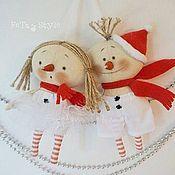 Мягкие игрушки ручной работы. Ярмарка Мастеров - ручная работа Снеговики Куклы - подвески Игрушки на елку. Handmade.