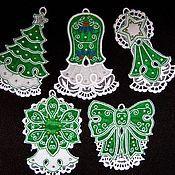 Подарки к праздникам handmade. Livemaster - original item A set of Christmas decorations Emerald. Handmade.