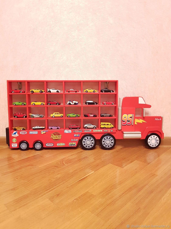 "Полка-грузовик ""MINI MACK"" для моделей машинок 24 ячейки"