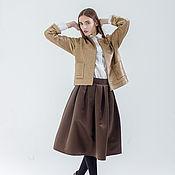 Одежда handmade. Livemaster - original item MIDI skirt taffeta. Handmade.