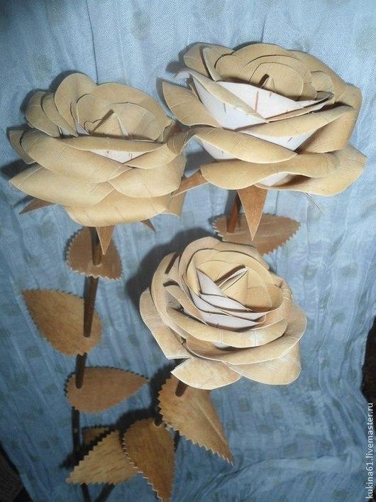 Аксессуары для фотосессий ручной работы. Ярмарка Мастеров - ручная работа. Купить роза. Handmade. Бежевый, цветы ручной работы, береста