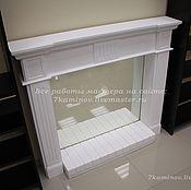 Для дома и интерьера ручной работы. Ярмарка Мастеров - ручная работа Декоративный камин с подиумом и зеркалом из гипса КМР-103 фальш камин. Handmade.