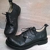 Обувь ручной работы. Ярмарка Мастеров - ручная работа Кожаные броги Артикул 108. Handmade.