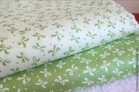 Шитье ручной работы. Ярмарка Мастеров - ручная работа. Купить Набор ткани бантики зеленая. Handmade. Разноцветный, ткань для творчества