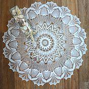 Для дома и интерьера ручной работы. Ярмарка Мастеров - ручная работа Мини-скатерть крючком Амелия. Handmade.