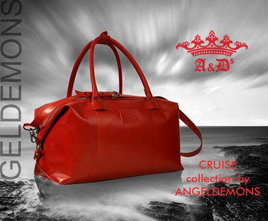 Спортивные сумки ручной работы. Ярмарка Мастеров - ручная работа. Купить Сумка Cruise Color. Handmade. Ярко-красный