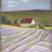 Картины и панно ручной работы. Ярмарка Мастеров - ручная работа Лавандовые поля. Handmade.
