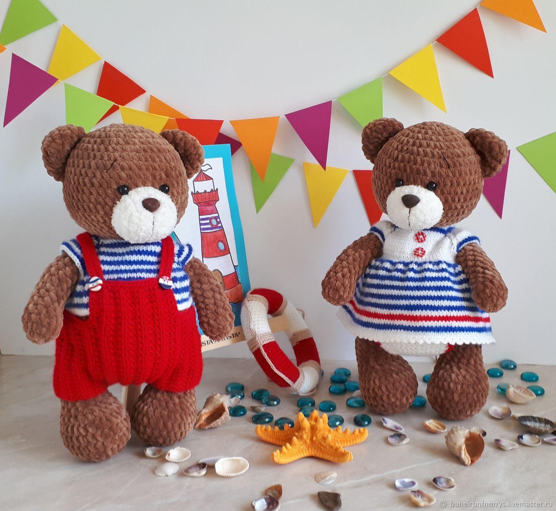 Мишутки в морской одежде, Мягкие игрушки, Москва,  Фото №1