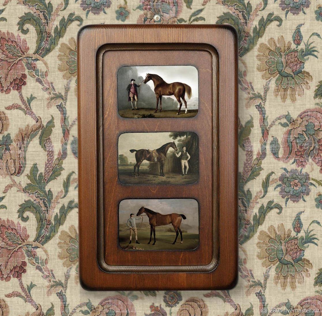 Большая деревянная рамка на три фото, Фоторамки, Киров,  Фото №1
