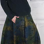 Одежда ручной работы. Ярмарка Мастеров - ручная работа Валяная юбка Немного солнца в холодной воде. Handmade.