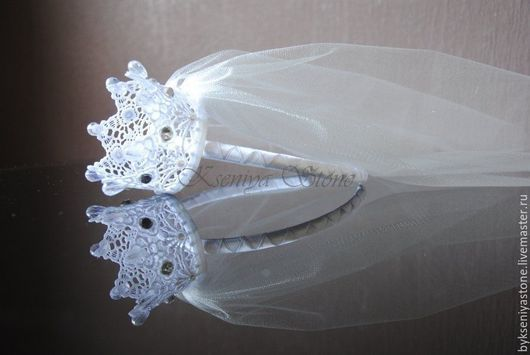 Корона `Невеста` с фатой, Kseniya Stone +79268365887 (WhatsApp/Viber/sms)
