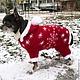Одежда для собак, ручной работы. Ярмарка Мастеров - ручная работа. Купить костюм Деда мороза для собак. Handmade. Праздничный наряд