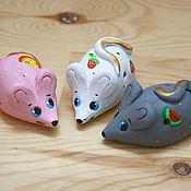 Куклы и игрушки ручной работы. Ярмарка Мастеров - ручная работа Мышки-свистульки. Handmade.