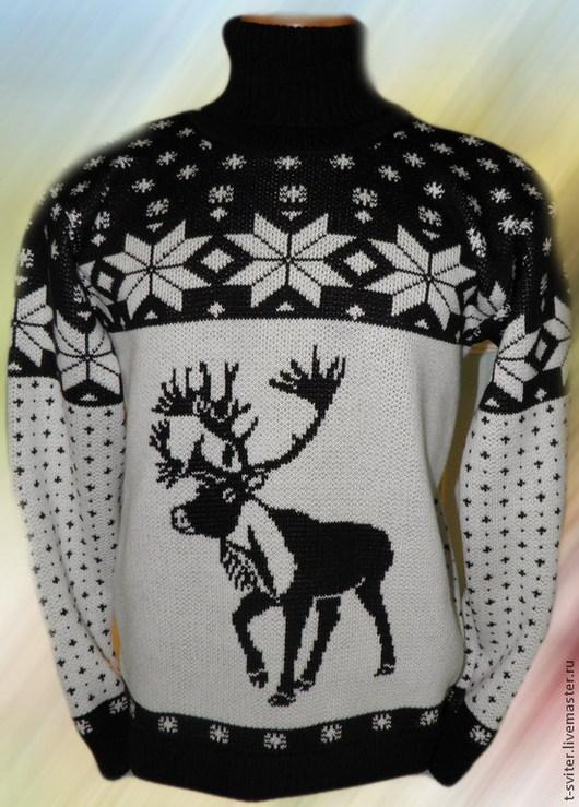 Тату-свитер с лапландским оленем