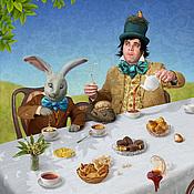 """Картины и панно ручной работы. Ярмарка Мастеров - ручная работа Фотосказка """"Алиса в стране чудес. Безумное чаепитие"""". Handmade."""