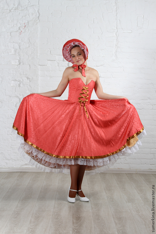 Купить платье кан-кан