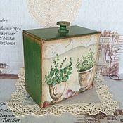 """Для дома и интерьера ручной работы. Ярмарка Мастеров - ручная работа Короб для хранения """"Пряные травы"""". Handmade."""