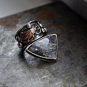 Украшения ручной работы. Ярмарка Мастеров - ручная работа Sun Bug. Кольцо из серебра с солнечным камнем.. Handmade.