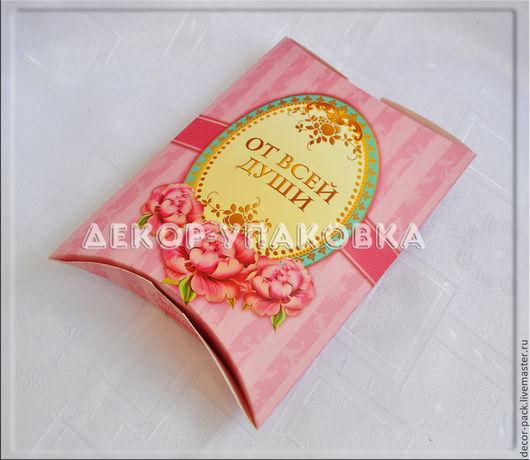 """Упаковка ручной работы. Ярмарка Мастеров - ручная работа. Купить Коробка-конверт """"От всей души"""" (розовая). Handmade. Розовый, коробочка"""