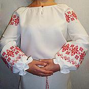 Русский стиль handmade. Livemaster - original item Russian women`s shirt