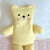 Куклы и игрушки ручной работы. Ярмарка Мастеров - ручная работа Грелка с вишневыми косточками Мишка жёлтый. Handmade.