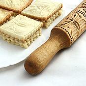 Для дома и интерьера ручной работы. Ярмарка Мастеров - ручная работа Скалка для пряников и печенья в русском стиле в подарок женщине. Handmade.