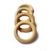 Материалы для творчества ручной работы. Ярмарка Мастеров - ручная работа Колечки деревянные 56 мм. Handmade.
