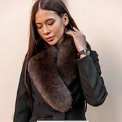 Одежда handmade. Livemaster - original item Coat with fur collar (removable). Handmade.
