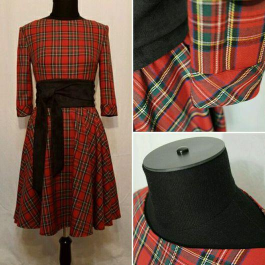 Платья ручной работы. Ярмарка Мастеров - ручная работа. Купить Платье Шотландка. Handmade. Платье, красивое платье, платье в офис