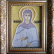 Иконы ручной работы. Ярмарка Мастеров - ручная работа Именная вышитая икона святой (святого) 18х14 см. Handmade.