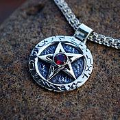 Украшения handmade. Livemaster - original item Pentagram with stone. Handmade.