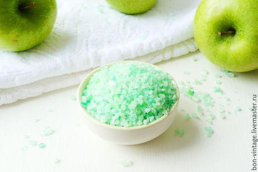 Соль для ванны ручной работы. Ярмарка Мастеров - ручная работа. Купить Яблоко - соль для ванн. Handmade. Мятный, яблочный