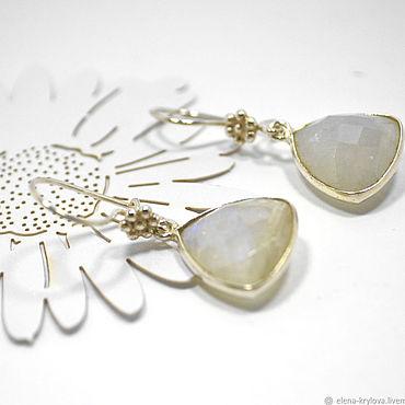 Decorations handmade. Livemaster - original item Earrings silver 925 with moonstone. Handmade.