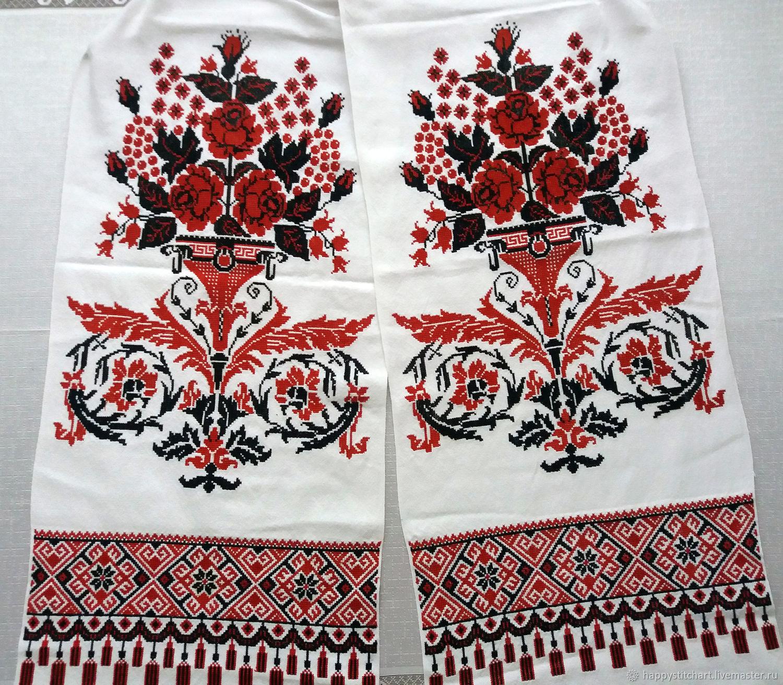 Рушник 5 с ручной вышивкой крестом, Рушники, Гайсин,  Фото №1