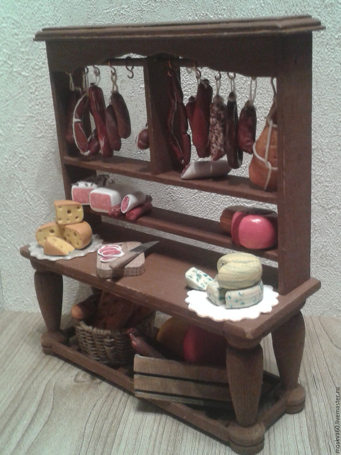 Meat Counter For Dollhouse Miniatures Furniture For Dolls Shop