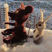 Куклы и игрушки ручной работы. Ярмарка Мастеров - ручная работа Медвежонок Топтыжка и Зайчик. Handmade.